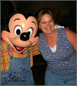 Sara and Mickey Mouse