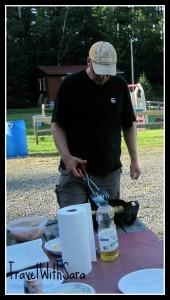 Frying Up Fish at Arrowhead Lake & Resort