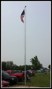 Gun Club Parking With Flag