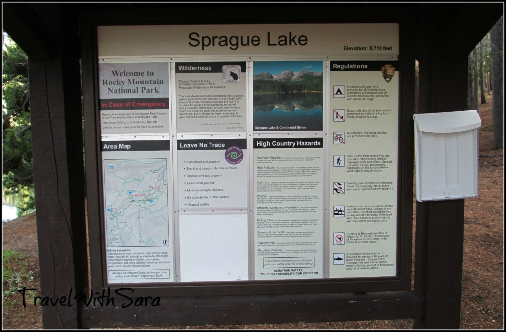 Sprague Lake Sign