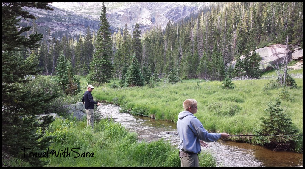Fly Fishing On Trail To Black Lake