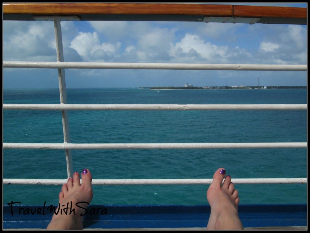 Relaxing On Carnival Ship
