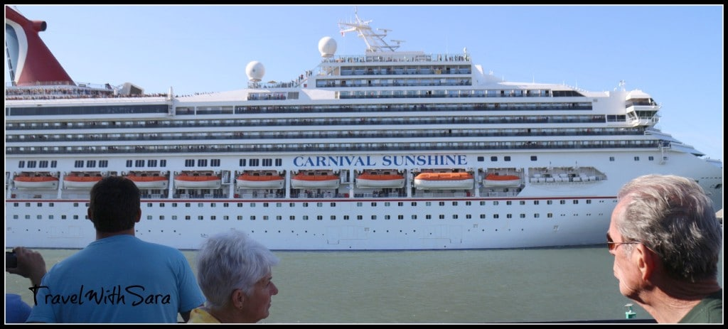 Carnival Sunshine Leaving Port Canaveral