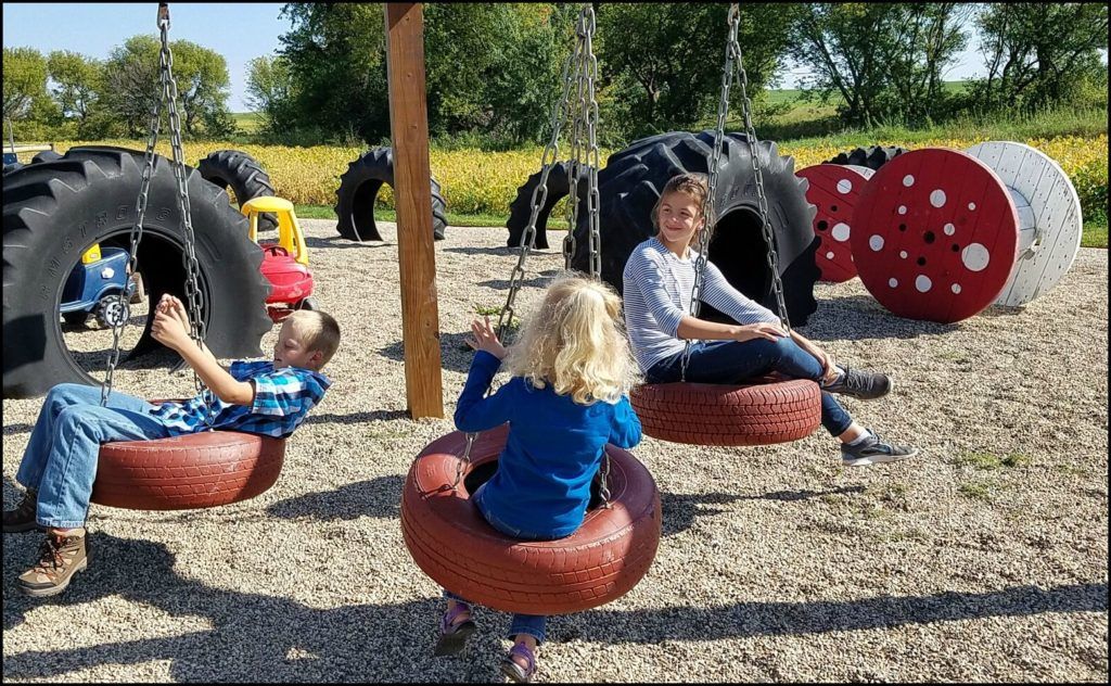 tire swings at Enchanted Acres