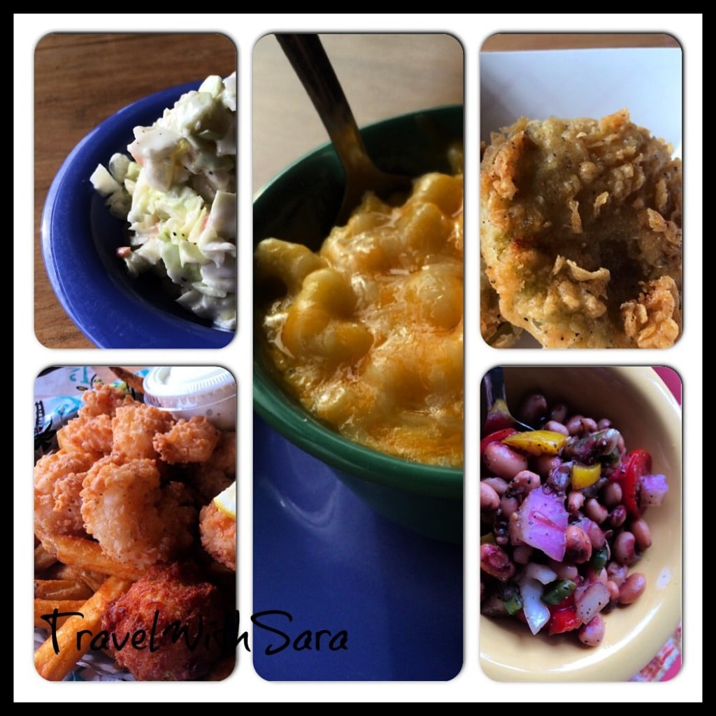 variety of foods from Lulu's