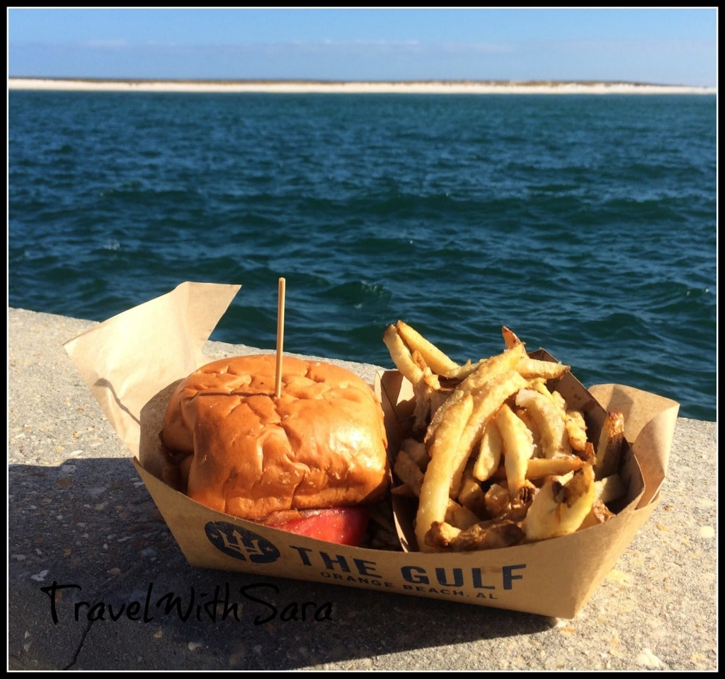 Burger at The Gulf