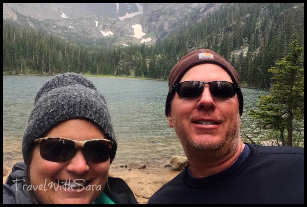 Todd and Sara hiking Odessa
