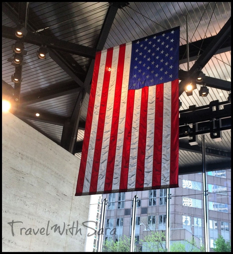 Flag in Willis Tower