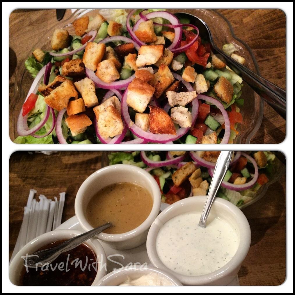 Salads at Lous