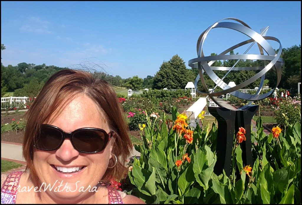 Sara in rose garden