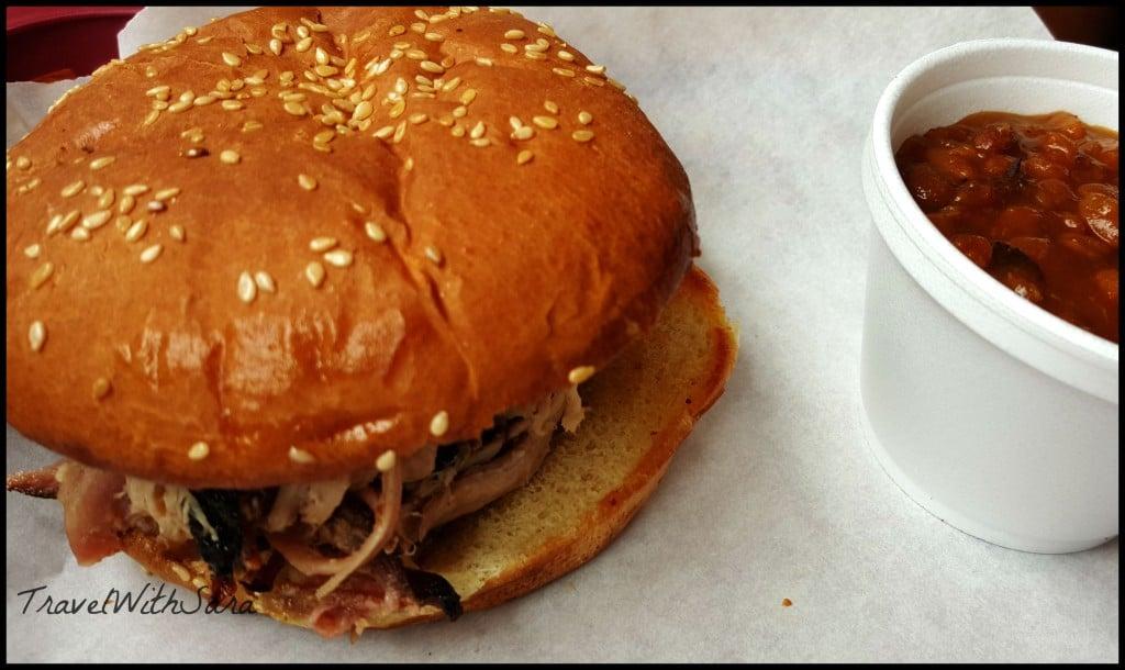 Smokin Yard's BBQ sandwich