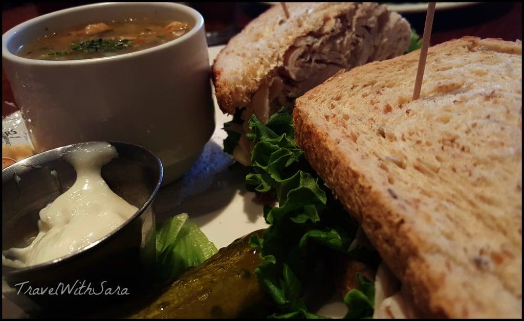 Sandwich at Henrys Pub