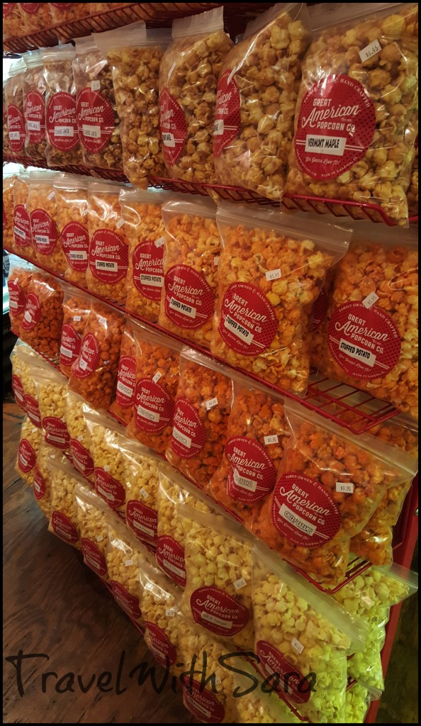 Great American Popcorn on shelves