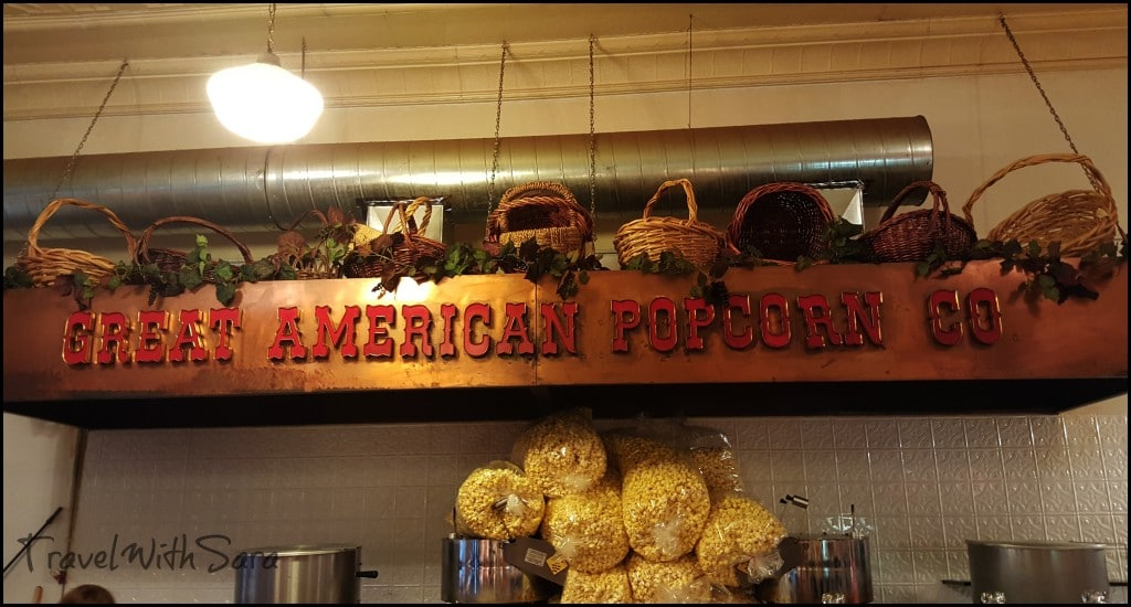 Great American Popcorn sign