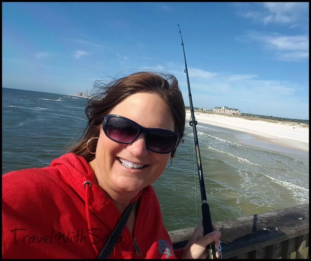 Sara fishing Gulf Shores