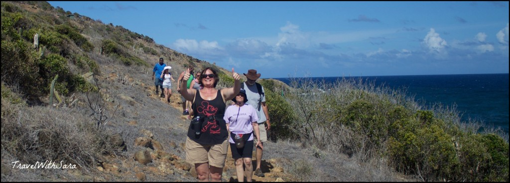 Sara hiking in St. Maarten