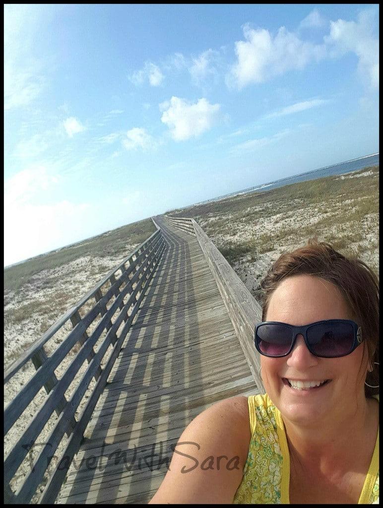 Sara on Boardwalk in Orange Beach
