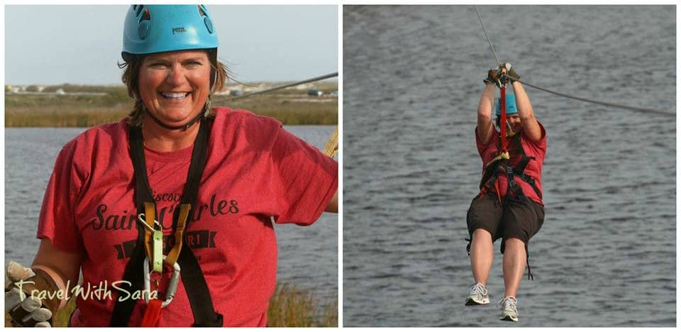 Sara ziplining