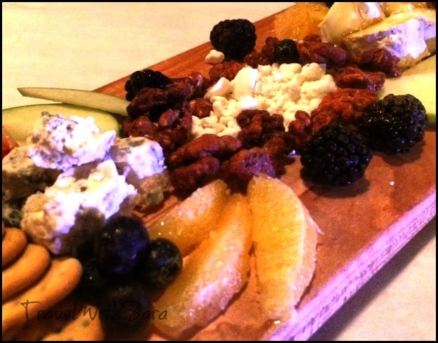 Cheese platter at Villagio Grille