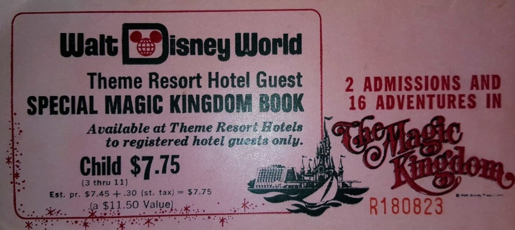 1972 Disney Ticket