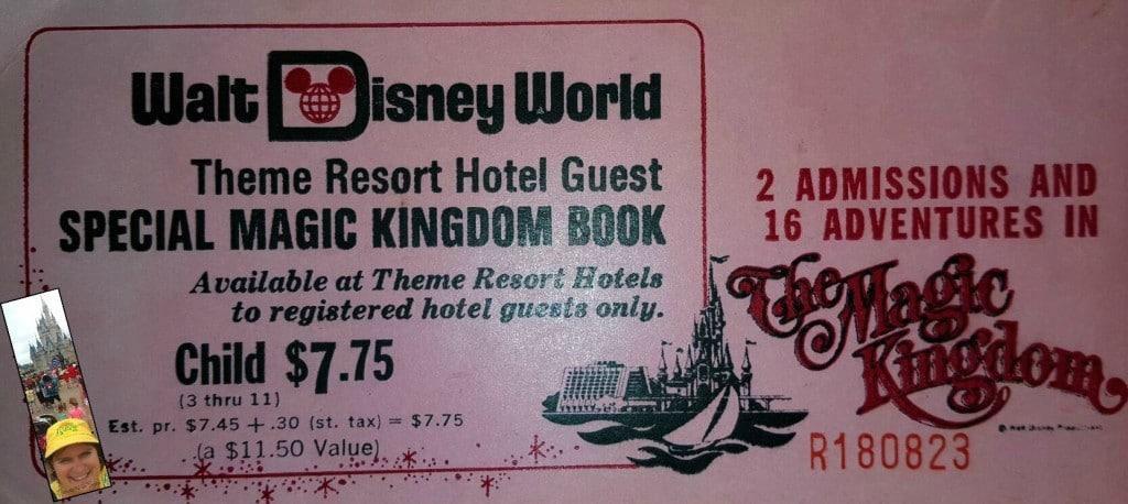 1972 Disney Ticket With Sara