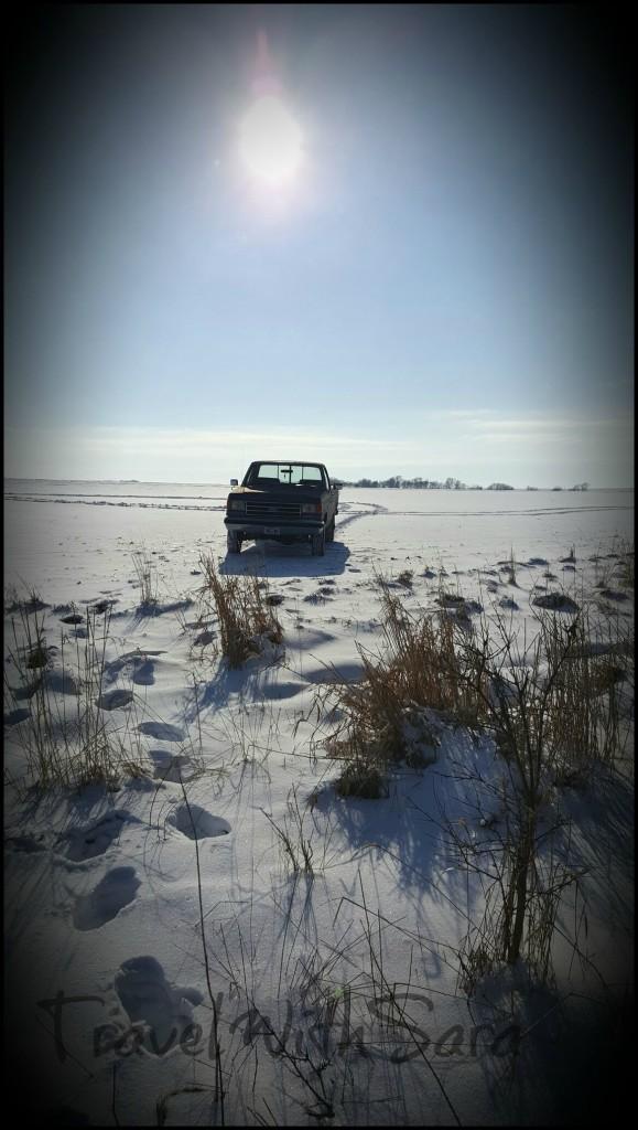 Iowa Ford Truck In Snow