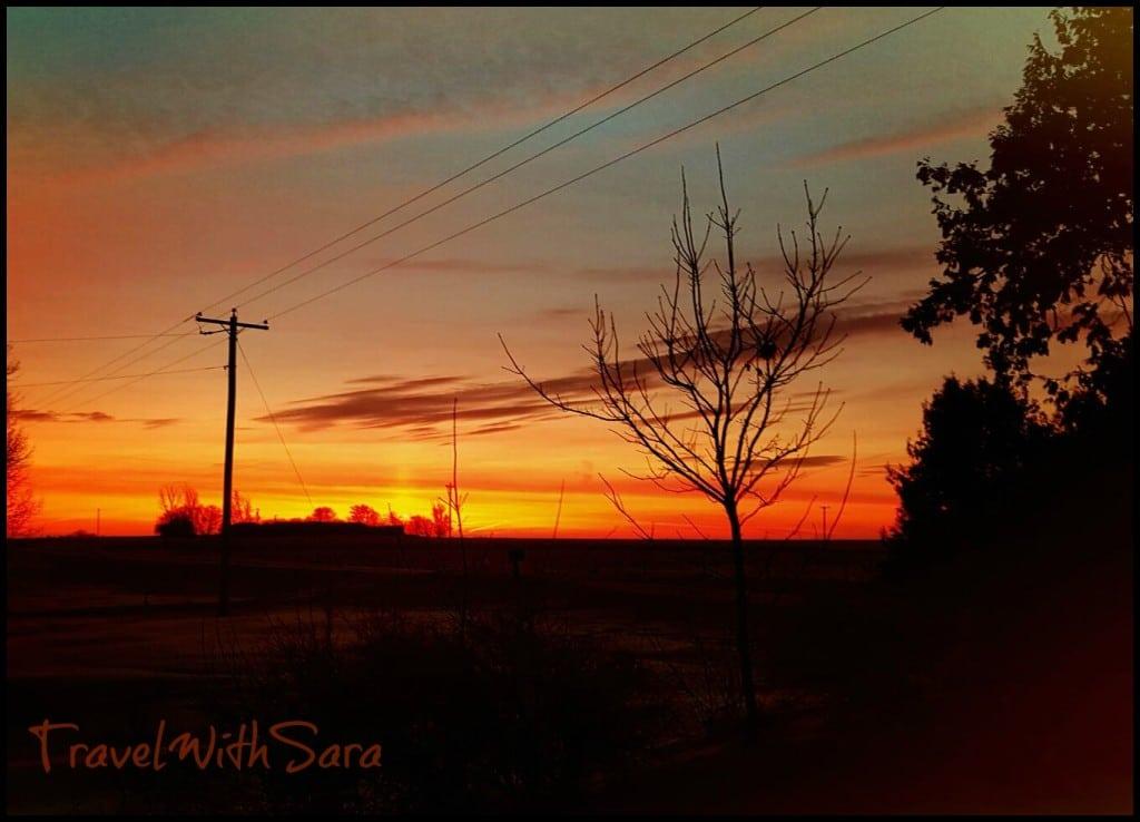 colorful iowa sunrise