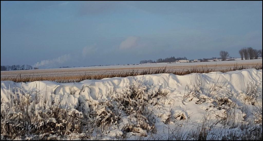 Iowa snow ditch