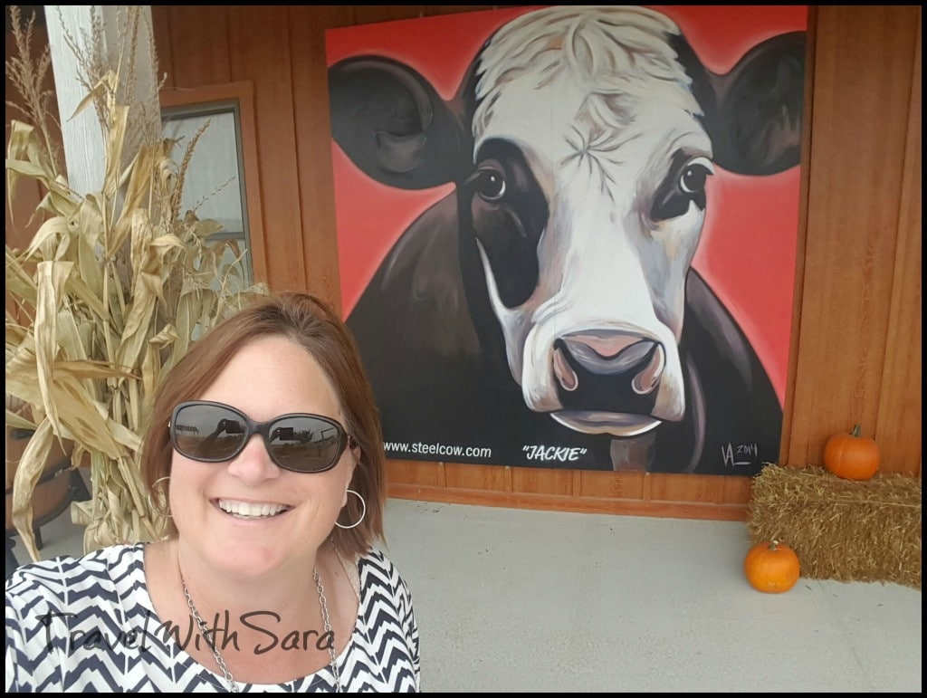 Sara and cow