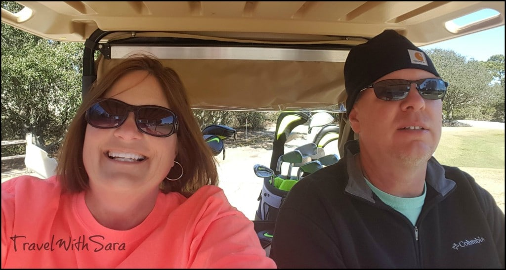 Sara and Todd in Golf Cart