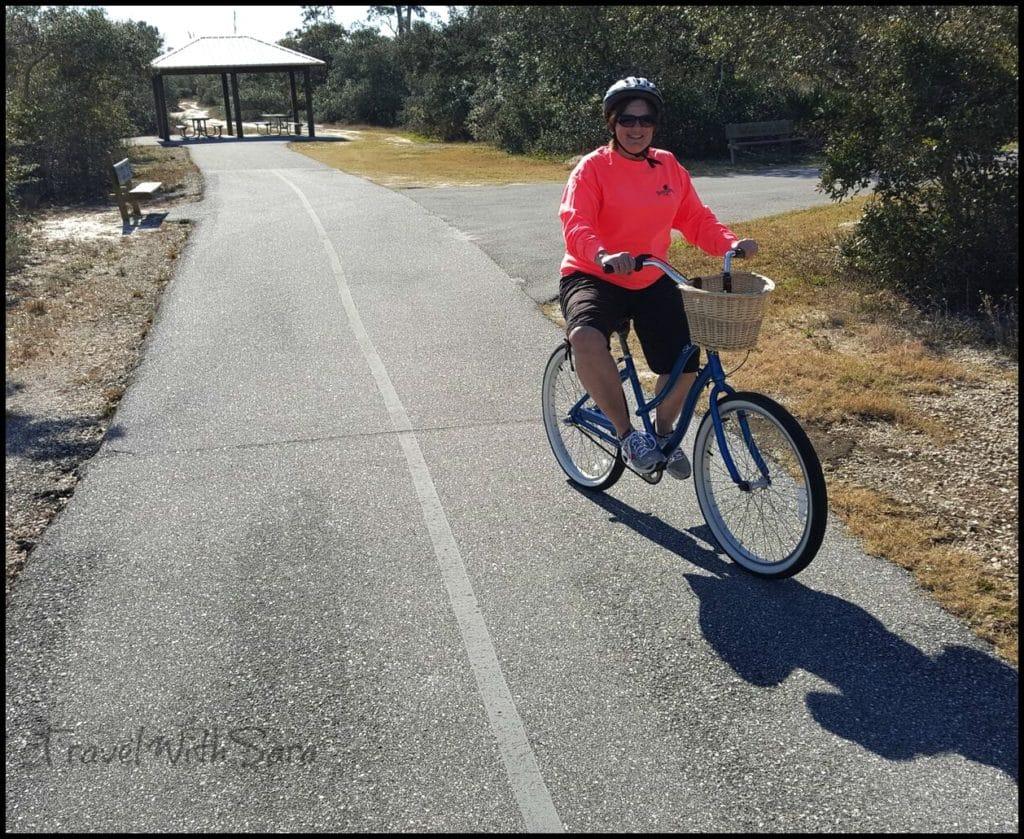 Sara riding bike