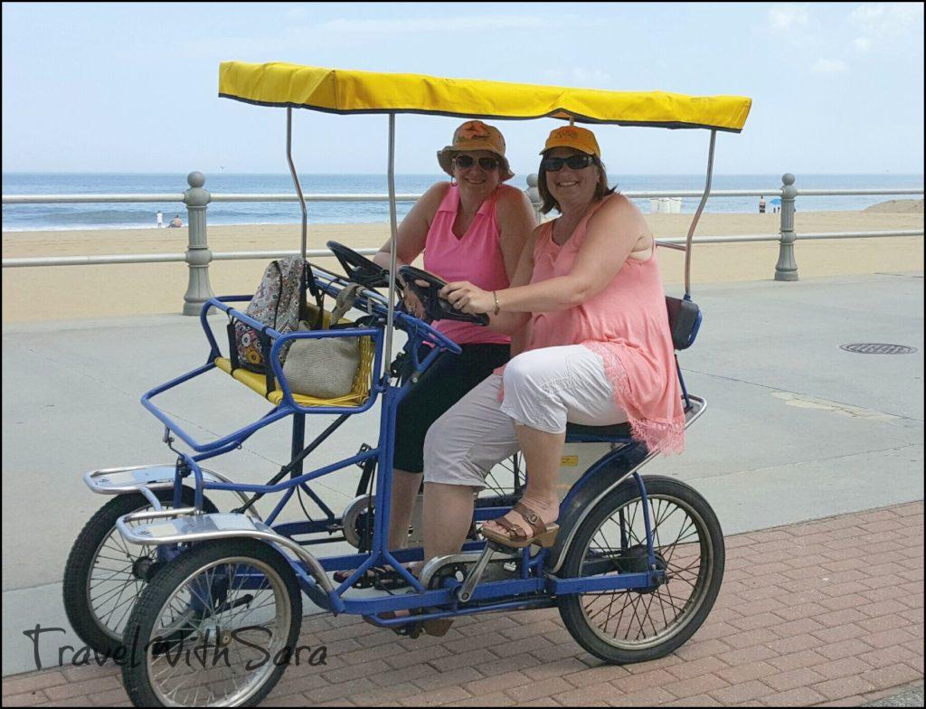 sisters on bikes