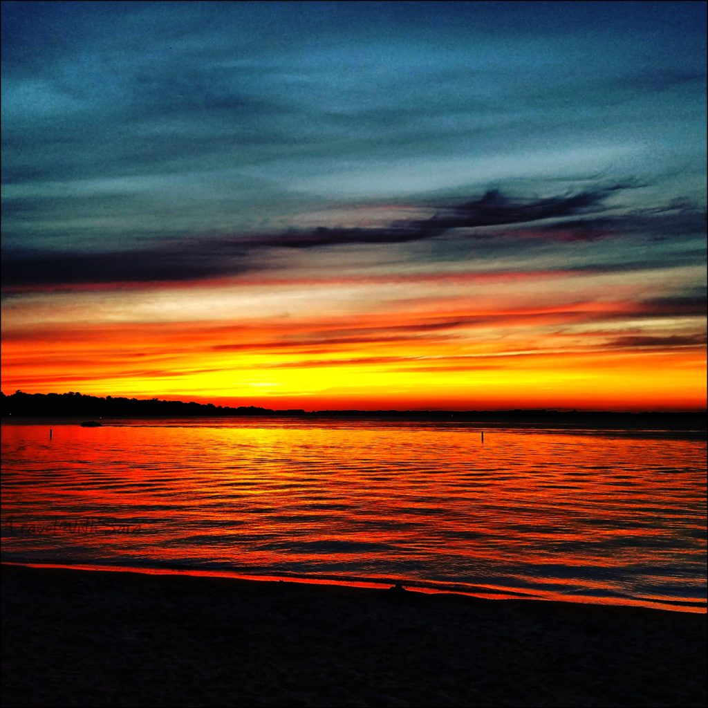 Clear Lake Iowa Sunset
