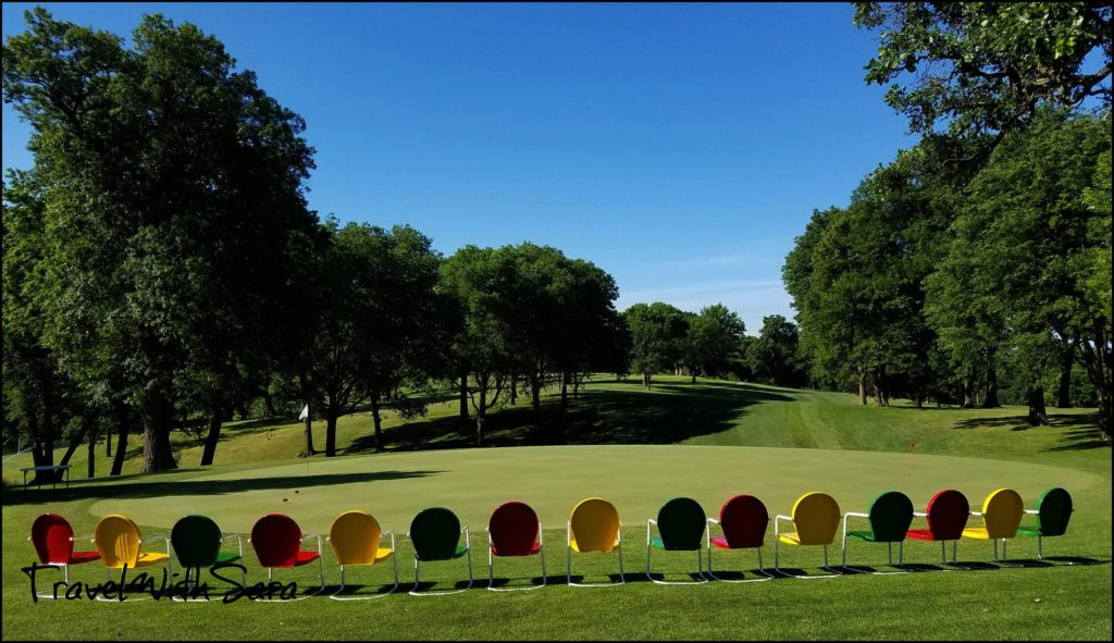 chairs at Iowa golf course