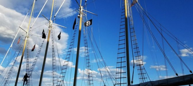 Sailing On Tall Ship Windy In Chicago