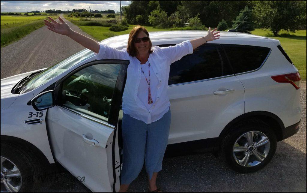 Sara and car