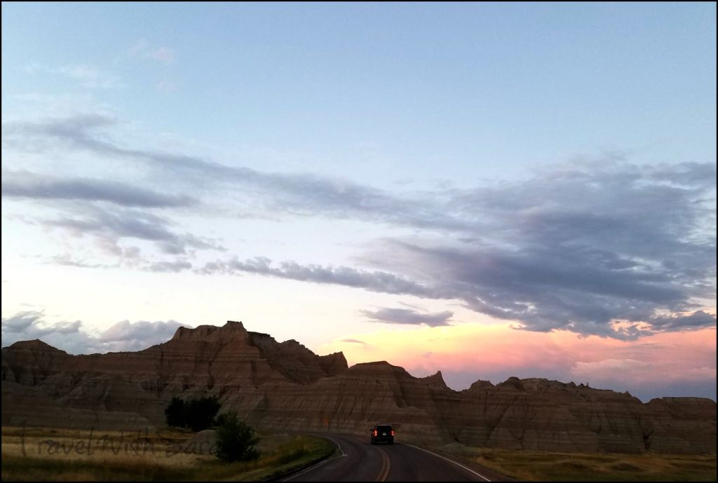 car in Badlands