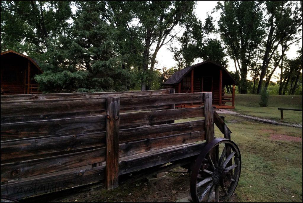 wagon and cabins