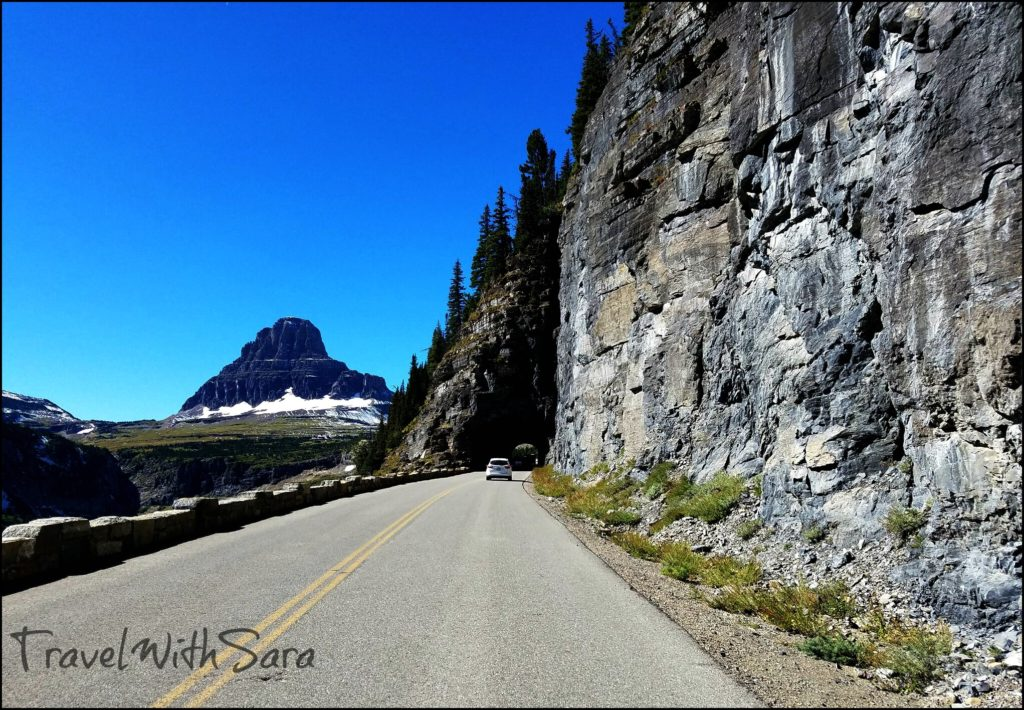 driving in Glacier