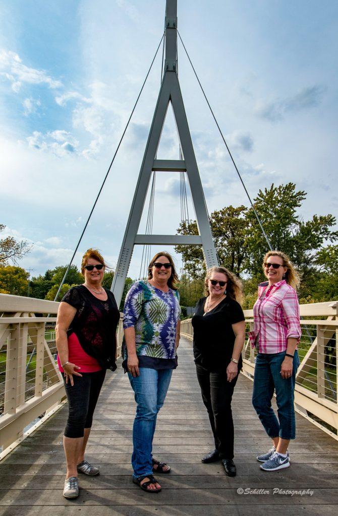 Bloggers on bridge