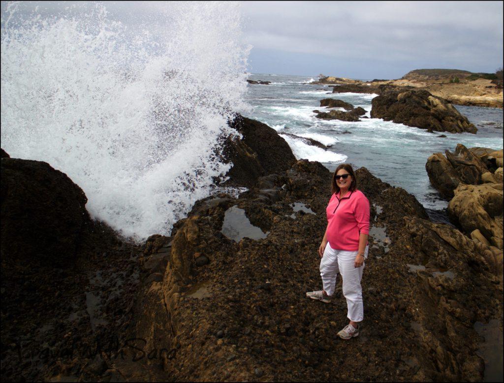 Sara on rocks