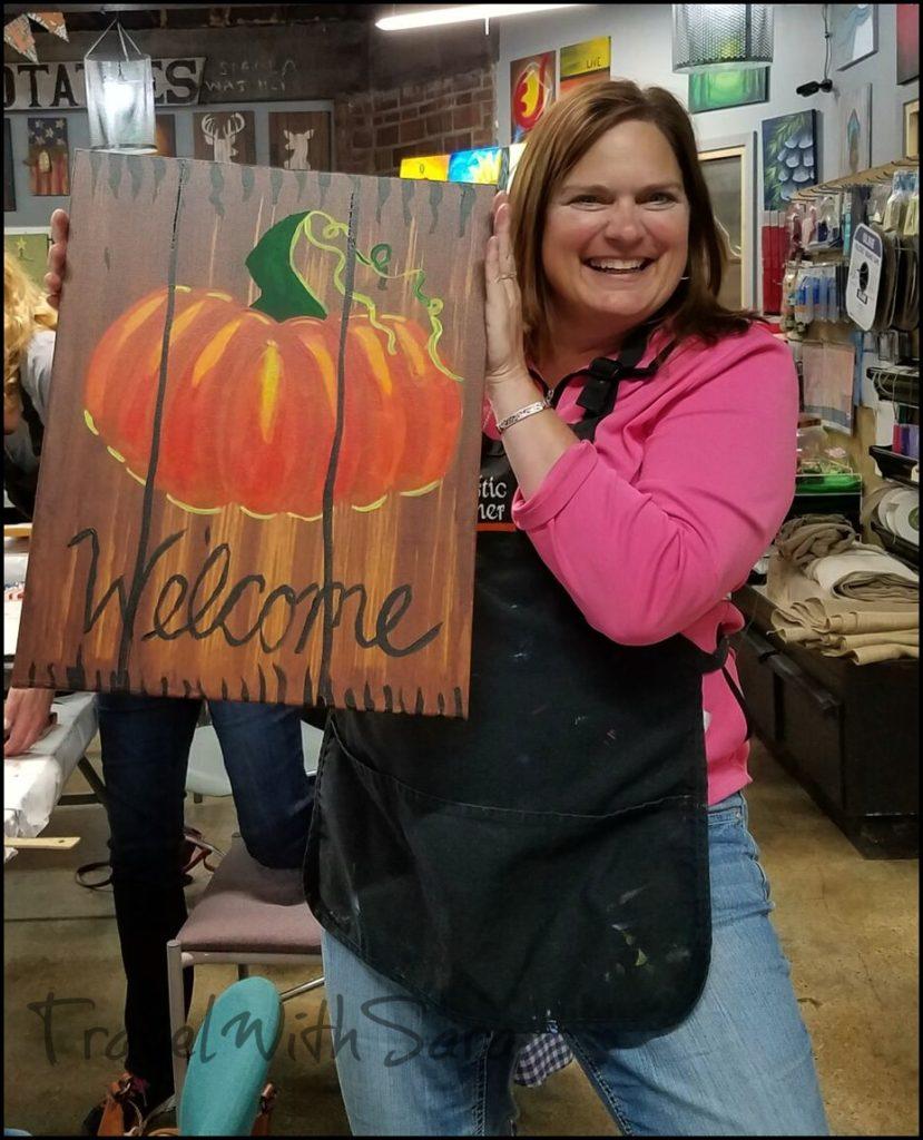 Sara pumpkin painting