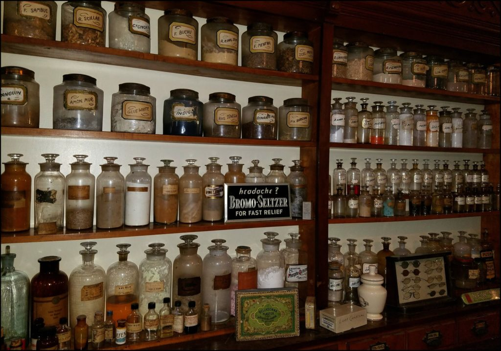 Drug store in Floyd County Museum