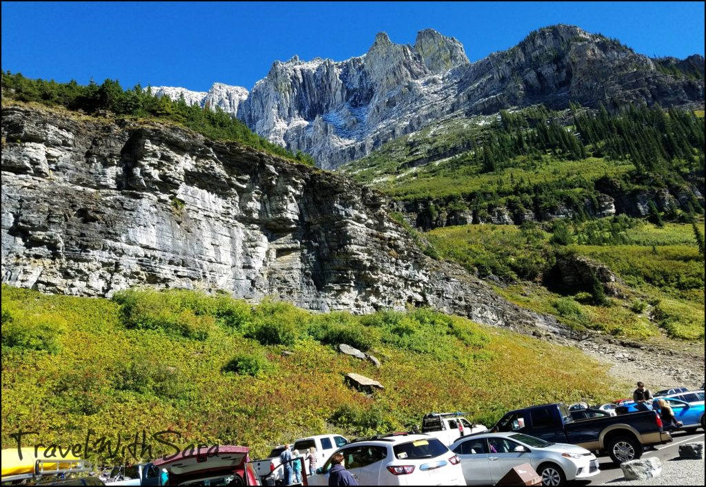 Going To The Sun Road Parking Lot
