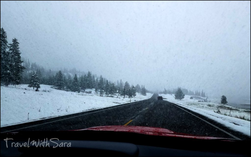 snow in Yellowstone