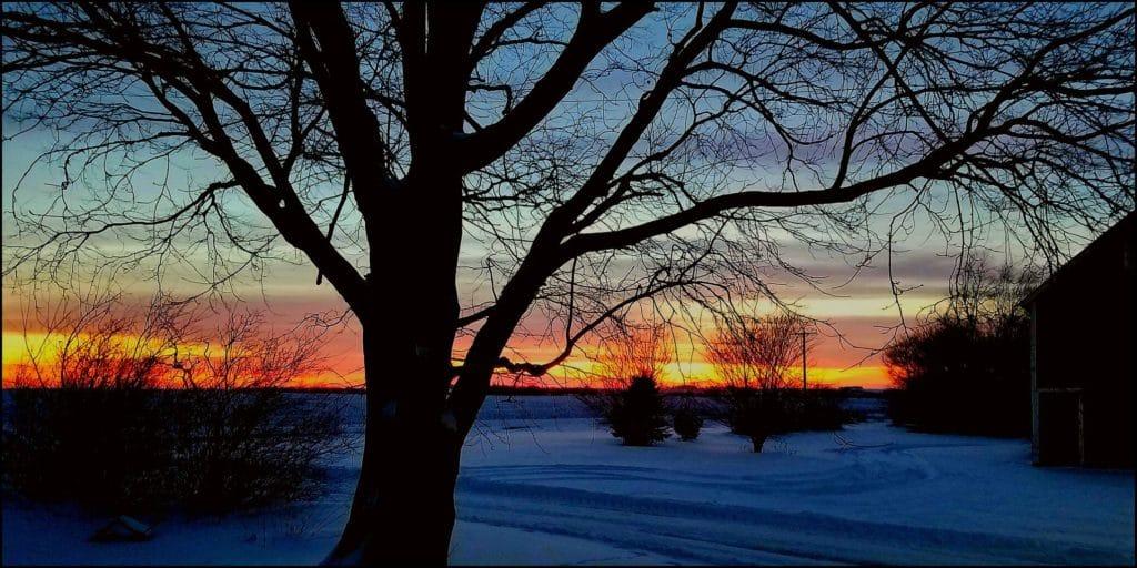 Colorful Iowa sunset