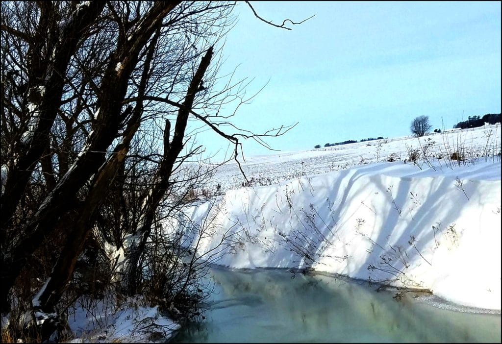 Icy Iowa stream