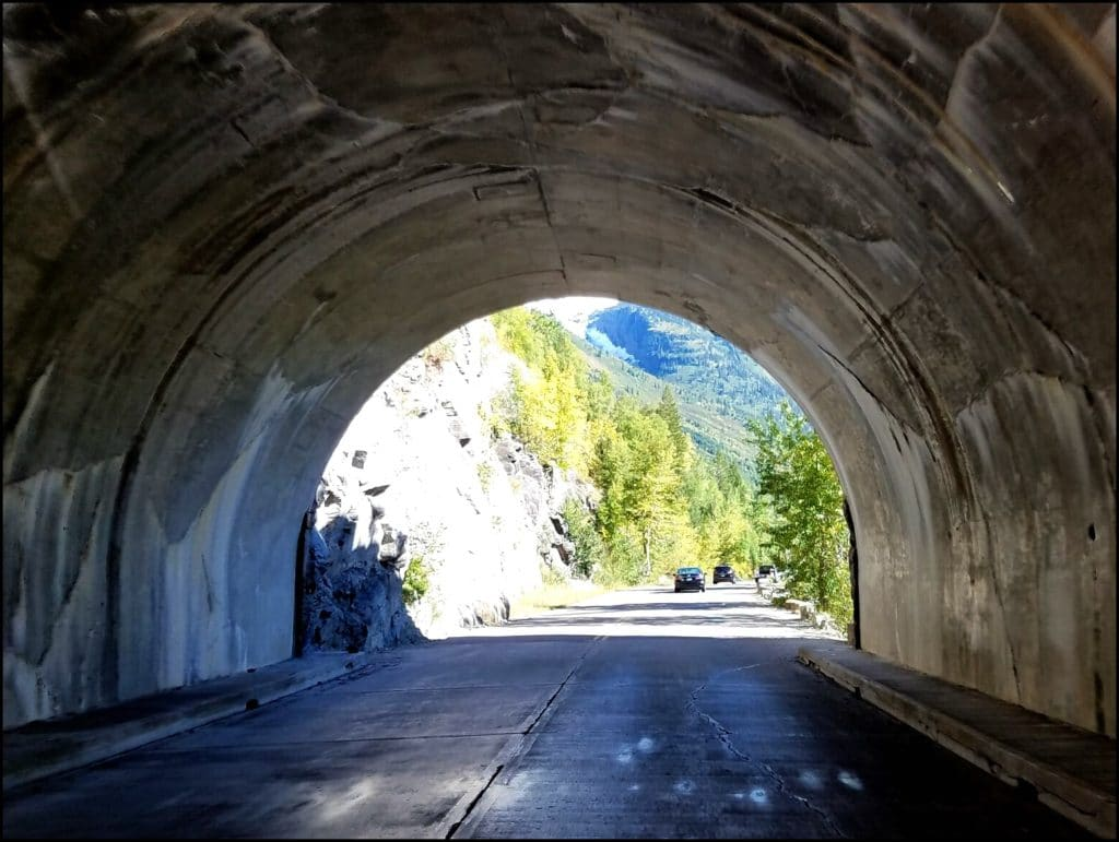 Tunnel in Glacier National Park