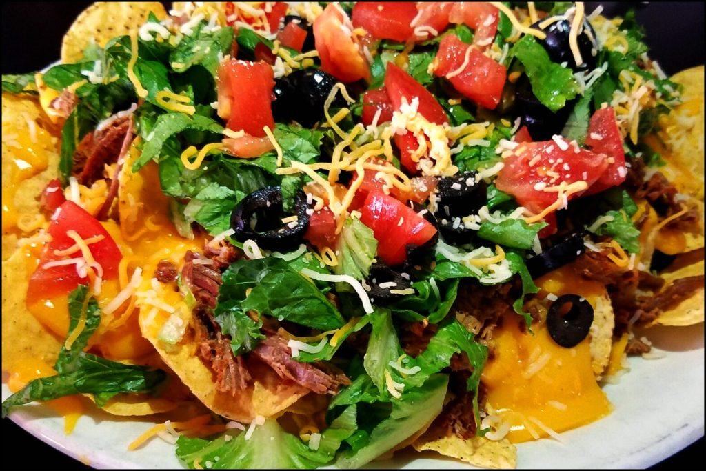 nachos at the pub