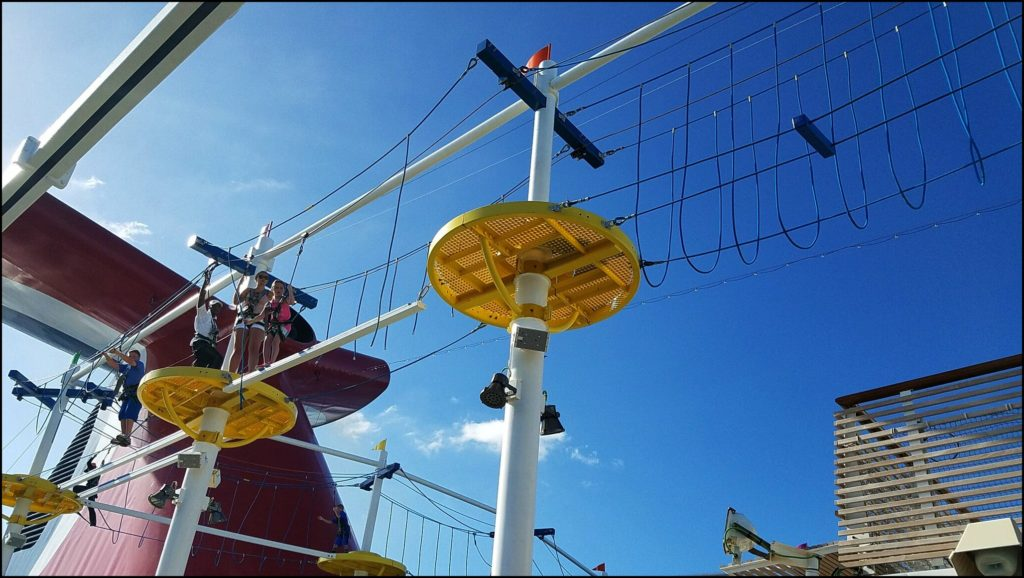 Sky ropes course